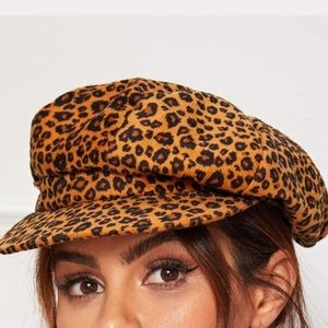 New Leopard print cabby hat
